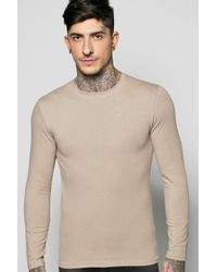 Boohoo Multicolor Long Sleeve Muscle Fit T Shirt for men