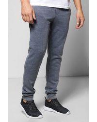 Boohoo | Blue Denim Wash Skinny Joggers for Men | Lyst