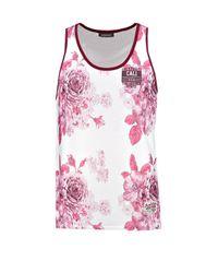Boohoo Red Floral Print Vest for men