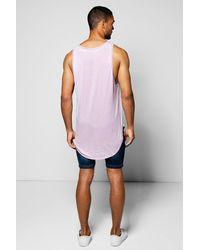 Boohoo - Purple Burnout Pocket Vest for Men - Lyst