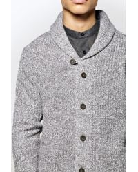 Boohoo | Gray Shawl Collar Twisted Cardigan for Men | Lyst