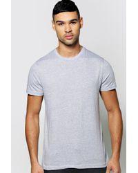 Boohoo Gray Basic Crew Neck T Shirt for men