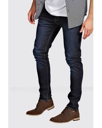 Boohoo | Blue Indigo Super Skinny Fit Jeans for Men | Lyst