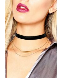 Boohoo | Black Plus Kelly Necklace Detail Choker | Lyst
