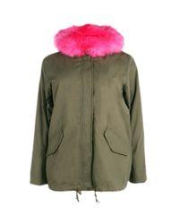 Boohoo Multicolor Plus Billie Parka With Bright Contrast Faux Fur