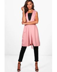 Boohoo Pink Tall Molly Sleeveless Belted Duster
