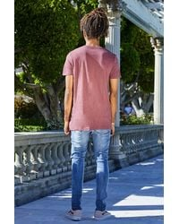 Boohoo Pink Longline T-shirt With Zips for men