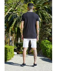 Boohoo Black French Longline T-shirt With Side Zips for men
