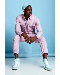 BoohooMAN Multicolor Langer Jumpsuit Aus Denim for men
