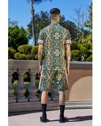 BoohooMAN Multicolor French Montana Tropical Print Shirt Co-ord for men