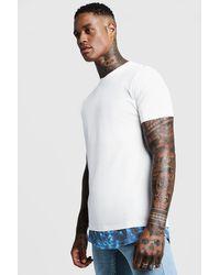 BoohooMAN White Tie Dye Faux Layer Print T-shirt for men