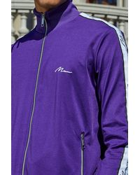 Boohoo Purple French Funnel Neck Tracksuit for men