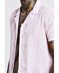 BoohooMAN Multicolor Kurzärmeliges Hemd Mit Reverskragen Und Schlangen-print for men