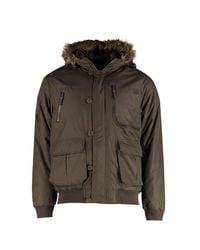 Boohoo Multicolor Faux Fur Hooded Multi Pocket Parka for men
