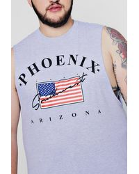 BoohooMAN Multicolor Big & Tall Tanktop Mit Arizona-print for men
