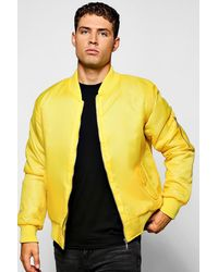 Boohoo Yellow Ma1 Bomber Jacket for men