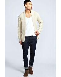 Boohoo - Blue Textured Cardigan for Men - Lyst