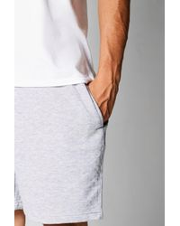 Boohoo Gray Mid Length Jersey Shorts With Contrast Waist Band for men