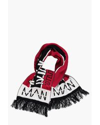 Boohoo Red Oversized Man Football Scarf for men