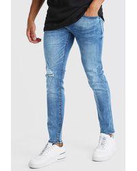 BoohooMAN Blue Skinny Fit Jean for men