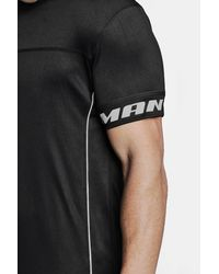 Boohoo Black Active Man Gym T-shirt With Piping for men