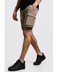 BoohooMAN Multicolor Cargo Shorts With Drawstring Waistband for men
