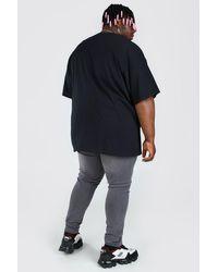 BoohooMAN Black Plus Size Halloween Costume Text T-shirt for men