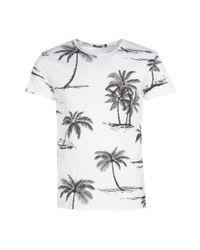 Boohoo - White Short Sleeve Palm Print T-shirt for Men - Lyst