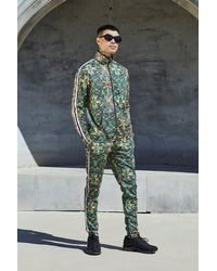 BoohooMAN Green French Montana Tropical Print Co-ord Top for men