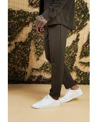 BoohooMAN Green Plain Smart Jogger Pants for men