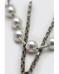 Collier superposé à pendentif perles BoohooMAN pour homme en coloris Gray