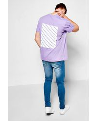 Boohoo Purple Oversized T Shirt With Back Print for men