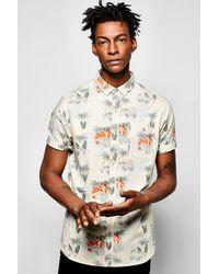 Boohoo Multicolor Hawaiian Print Shirt for men