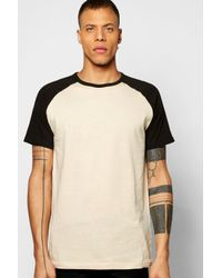 Boohoo | Natural Short Sleeve Raglan T Shirt for Men | Lyst