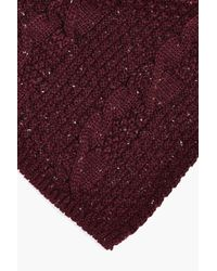 Boohoo Purple Cable Knit Scarf for men