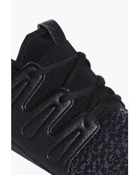 Boohoo Black Knitted Running Trainers for men