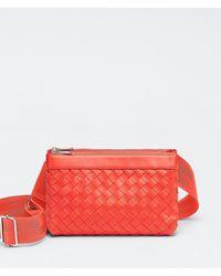メンズ Bottega Veneta メッセンジャーバッグ Red