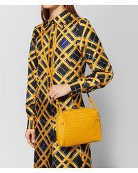 Bottega Veneta - Yellow Sunset Intrecciato Nappa Messenger - Lyst