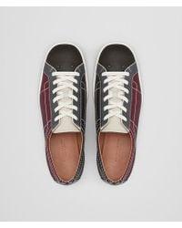 Bottega Veneta Brown Sneaker In Barolo Multicolor Calf Intrecciato for men