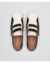 Bottega Veneta Multicolor Sneaker In Mist Nero Calf Intrecciato for men