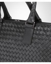 Bottega Veneta Black Nero Intrecciato Briefcase for men