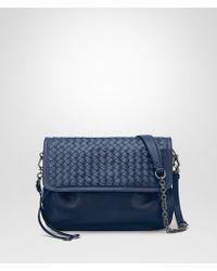 Bottega Veneta Messenger Bag In Pacific Intrecciato Nappa in Blue - Lyst 61cef66c16e3a