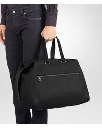 Bottega Veneta Multicolor Duffel Bag In Nero Cervo, Intrecciato Details for men