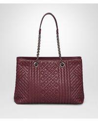 Bottega Veneta - Multicolor Medium Tote Bag In Barolo Intrecciato Calf, Embroidered Details - Lyst