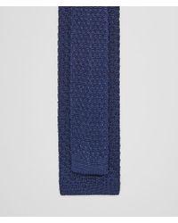 Bottega Veneta - Blue Tie In Sapphire Knitted Silk for Men - Lyst