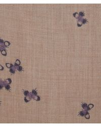 Bottega Veneta - Multicolor Scarf In Sand Light Purple Cashmere - Lyst