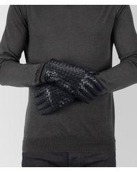 Bottega Veneta Blue Dark Navy Nappa Glove for men