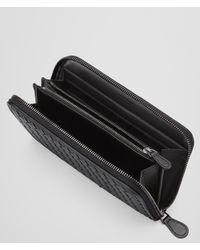 Bottega Veneta Black Zip-around Wallet