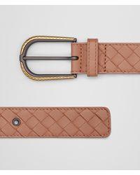 Bottega Veneta - Multicolor Nero Intrecciato Nappa Belt - Lyst