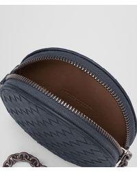 Bottega Veneta - Blue Key Ring In Denim Intrecciato Nappa - Lyst
